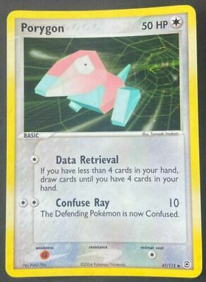 Porygon 47/112 FireRed & LeafGreen Uncommon Light Play LP Pokemon DNA GAMES