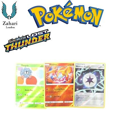 Pokemon Lost Thunder Reverse Holo Rare (Un) Common Individual Single Cards!