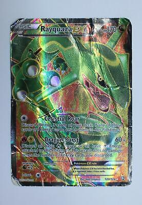 Pokemon Card - Rayquaza EX - 123/124 - Dragons Exalted - Heavy Played