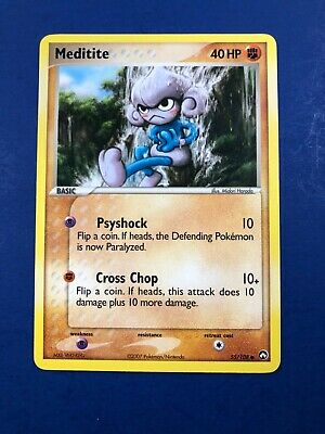 Pokemon Meditite 55/108 EX Power Keepers NM Near Mint common