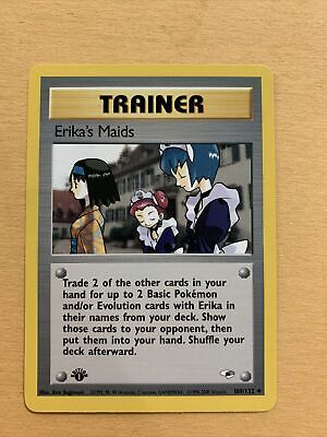 Pokemon Gym Heroes 1st Edition Trainer Erika's Maids 109/132 Uncommon