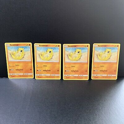 X4 Sandshrew 83/214 - Common Pokemon Card - Unbroken Bonds Set (2019)