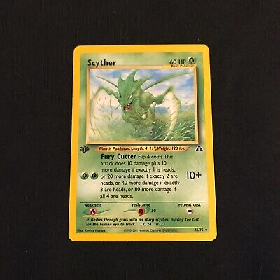 SCYTHER - 1st Edition Neo Discovery - 46/75 - Uncommon - Pokemon Card - NM