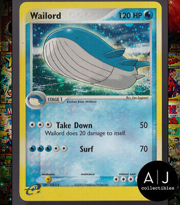 Wailord 14/109 EX Ruby and Sapphire Set Holo Pokemon Card TCG NM
