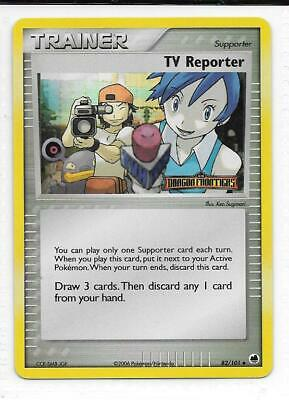 Pokemon --- TV REPORTER --- EX Dragon Frontiers! RARE STAMPED HOLO! MINT! 82/101