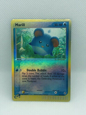 2003 Pokemon EX Sandstorm Set Marill REVERSE-HOLO 68/100 - LP