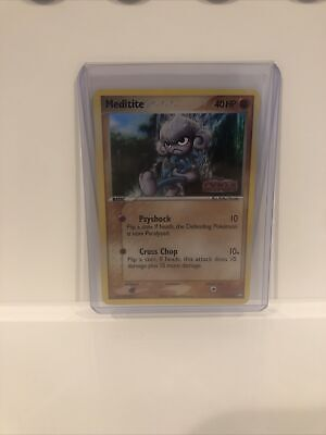 Pokemon Ex Power Keepers Stamped Holo Reverse Meditite Psa?