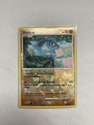Pokemon Card Riolu LV.6 POP Series 8 16/17 EXCELLENT Shattered Reverse Holo TCG!