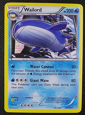 Dragons Exalted - Wailord 26/124 - Holo Rare - Pokemon Card - EXC
