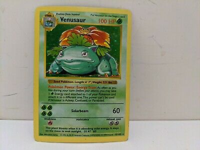 Pokemon Game 1999 Venusaur Holo Shadowless Base Set 15/102 - MP