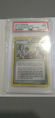 Pokemon Mr. Stone's Project Reverse Holo Dragon Frontiers PSA 9 - Mint 77/101