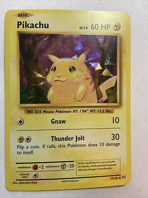 Pokemon TCG Pikachu XY Evolutions 35/108 Cracked Ice Holo ⚡️ Great Condition!