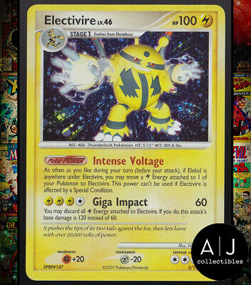 Electivire 3/130 Diamond and Pearl Set Holo Pokemon Card TCG EX/NM