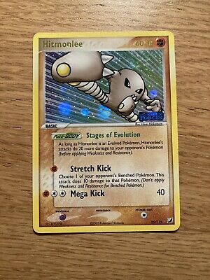 Pokemon Card Hitmonlee Stamped Holo 2005 Unseen Forces 25/115