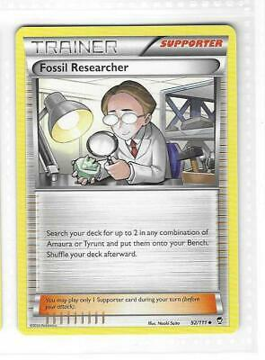 Pokemon -- FOSSIL RESEARCHER -- XY Furious Fists! Uncommon Trainer! MINT! 92/111