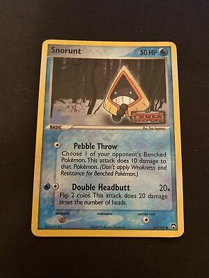 Snorunt - 64/108 - Reverse Holo Pokemon EX Power Keepers Stamp NM