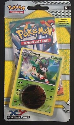Furious Fists XY Single Blister Pokemon Booster Pack Card Gogoat Promo 2014 NEW