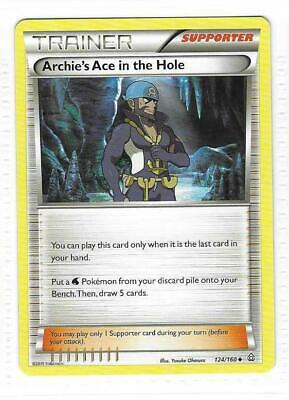 Pokemon --- ARCHIE'S ACE IN THE HOLE --- XY Primal Clash! Trainer! MINT 124/160