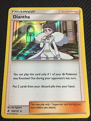 Pokemon : SM FORBIDDEN LIGHT DIANTHA 105/131 RARE HOLO