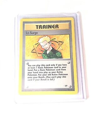 LT. SURGE - Gym Heroes  - 101/132 - Rare Trainer - Pokemon Card - EXC/NM