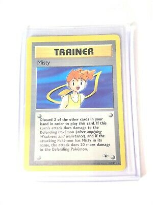 MISTY - Gym Heroes  - 102/132 - Rare Trainer - Pokemon Card - EXC/NM