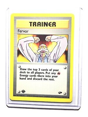 FERVOR - 1st Edition Gym Challenge  - 124/132 - Common - Pokemon - NM