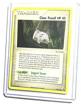 CLAW FOSSIL HP 40 - 78/92 - EX Legend Maker - Common - Pokemon Card - NM