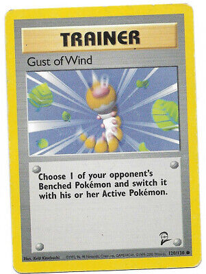 Gust of Wind 120/130 Base Set 2 Common Lightly Used Pokemon Card