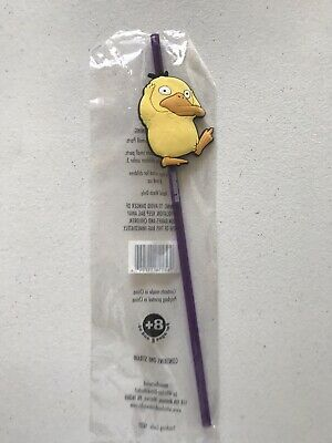 7-Eleven Psyduck Pokemon Straw Detective Pikachu Slurpee Purple Yellow 2019