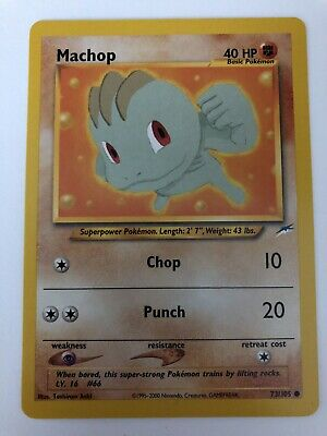 Pokemon Neo Destiny Set COMMON Machop 73/105 - NM/M Condition