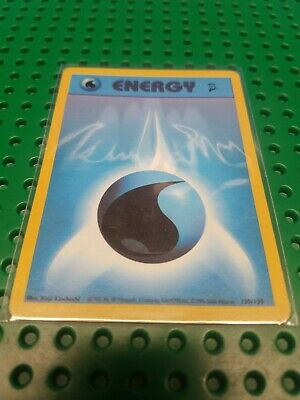 Water Energy 130/130 Base Set 2 Pokemon Card 2000 NM-Mint Never Played