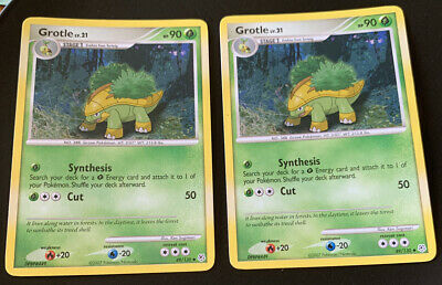 Grotle 49/130 Non Holo 2 Card Set Diamond & Pearl Pokemon Card