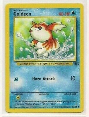 Pokemon Goldeen 53/64 Jungle Unlimited Edition near mint condition card
