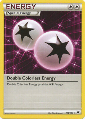 1x Double Colorless Energy - 114/124 - Uncommon Lightly Played Pokemon XY - Fate
