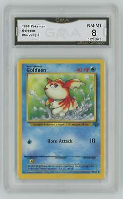 1999 Pokemon Jungle Unlimited #53 Goldeen Graded GMA 8 Nm-Mt Z2