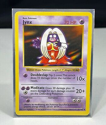 1st edition shadowless Jynx base set 1999 31/102 Pokemon card NM