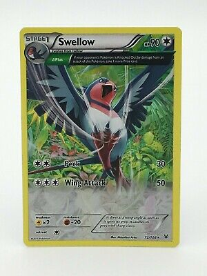 Pokemon Card- Swellow 72/108- Holo- Roaring Skies- NM Condition
