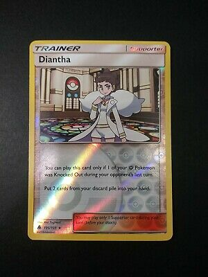 Pokemon Forbidden Light Diantha Reverse Holo Uncommon Trainer Card 105/131 NM