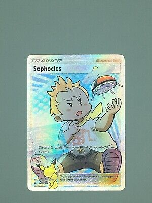 Sophocles 146/147 Ultra Rare Pokemon Burning Shadows Trainer Full Art MINT 2017