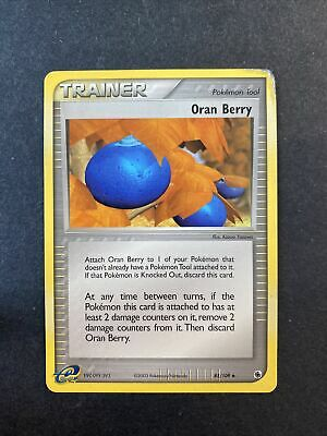 2003 Pokemon EX Ruby And Sapphire Oran Berry 85 /109
