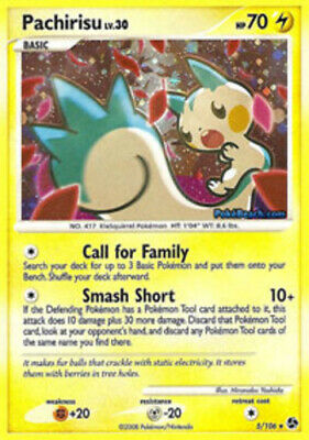 1x Pachirisu - 5/106 - Holo Rare - Reverse Holo NM-Mint Pokemon Diamond & Pearl