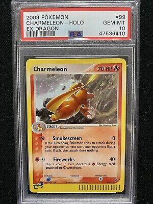 2003 Pokemon EX Dragon Charmeleon Holo 99/97 PSA 10 Gem Mint