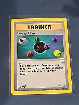 Energy flow Gym Heroes Trainer Pokemon Card 1st Edition 122/132 Booster Fresh