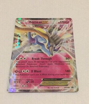 Xerneas Ex XY149 Rare Holo 7.5 Condition Pokemon Card