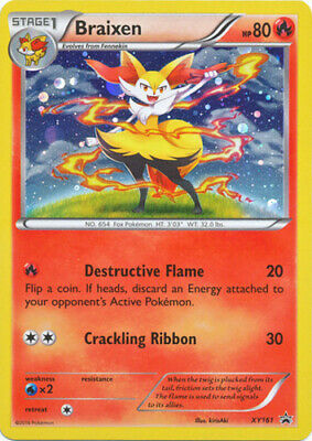 1x Braixen - XY161 - Holo Promo NM-Mint Pokemon Pokemon Promos