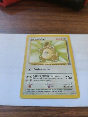 ⚡ KANGASKHAN - 21/64 - Jungle - Rare - Pokemon Card - NM WOTC 1999