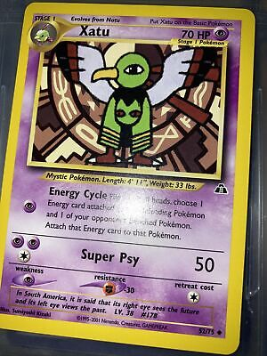 Xatu 52/75 1st Edition Neo Discovery Pokemon Card NM mint