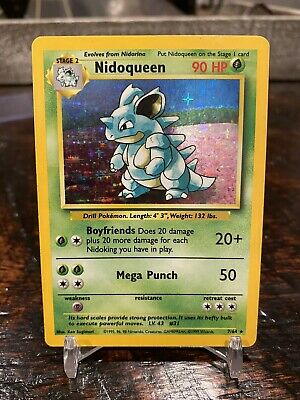 💥✨ Pokemon Nidoqueen 7/64 HOLO Jungle Set ERROR - NO STAMP✨💥