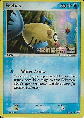 Pokemon:*Stamped* Holographic Feebas(50/106)Ex Emerald-Common-Near Mint.