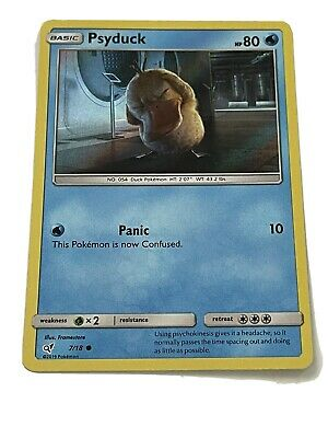 Psyduck Detective Pikachu 7/18 Holo Common Pokemon Card